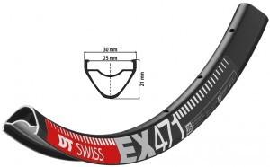 jante DT Swiss EX 471 26' noir